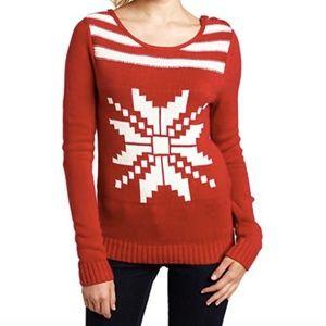 Roxy Snowflake Button Detail Sweater Sz M